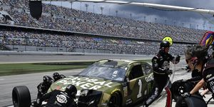 Kurt Busch gave up the lead just moments before the race ending red flag on Sunday at Daytona.