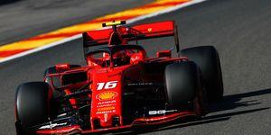 Charles Leclerc's Ferrari was quickest in Belgium on Friday.