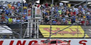 Denny Hamlin crossed the line first Saturday but didn't get to keep the NASCAR Xfinity win.