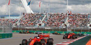 Team orders helped Sebastian Vettel take an early lead at Sochi.