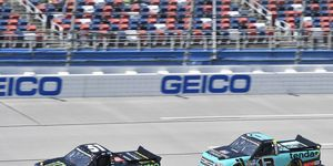 Riley Herbst and Johnny Sauter were at the center of a decisive NASCAR race control decision on the last lap at Talladega.