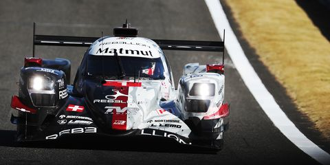 Gustavo Menezes and Bruno Senna took the top spot in qualifying aboard the solo Rebellion-Gibson R-13.