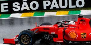 Sebastian Vettelpaced the field in Brazil on Friday.