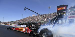 Brittany Force picked up her fourth No. 1 qualifier of the year in her Advance Auto Parts dragster when her run of 3.712-seconds at 328.38 mph from Friday night held up.