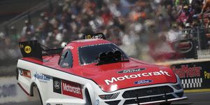 Tasca, who won for the first time in nearly seven years last weekend in Bristol, Tennessee, waited just seven days to pick up his next victory, making it two in a row by going 4.383-seconds at 245.09 mph in the final round in his Motorcraft/Tasca Parts Ford Shelby Mustang.