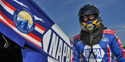 Ron Capps is just 33 points out of second place in the NHRA Mello Yello Series Funny Car standings after making it to the quarterfinals at Epping.