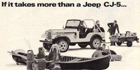 Getting that canoe on a CJ-5 might be a challenge.