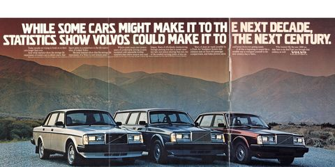 The Volvo 740 didn't go on sale in North America until the 1985 model year, so this is an all-240 lineup.