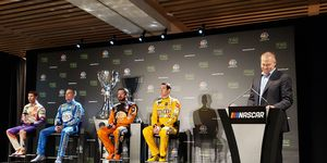 The Championship 4drivers in NASCAR's Cup Series met with the media in Miami Beach Thursday.