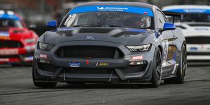 Austin Cindric and Seb Priaulx paired up this weekend in Multimatic Motorsports' No. 15 Ford Mustang GT4 entry