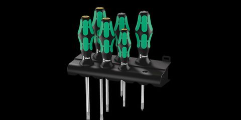 The Wera Kraftform screwdrivers feature tips designed to prevent cam out and ergonomic handles.