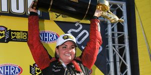 Erica Enders added the 2019 Pro Stock championship to her back-to-back titles in 2014 and 2015.