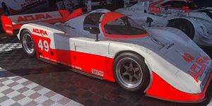 Johnstone is in one of three Acura Prototypes that are all in the familiar white and orange livery with the No. 49 on it.<br /> &nbsp;