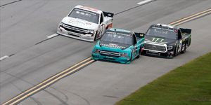 The out of bounds rule was a topic of conversation over the weekend for NASCAR Talladega.