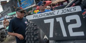 "Don ""The Snake"" Prudhomme, left, gets ready for his latest run at the Mexican 1000."