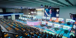 The new arena will feature 30 driving rigs for esports racing competitions.