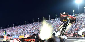 Billy Torrenceset the Lucas Oil Raceway speed record at 333.33 mph with his 3.655-second run that elevated him to the tentative No. 2 starting spot Saturday.