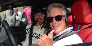 Mario Andretti drove the pace car for the NASCAR race at Charlotte Motor Speedway on Sunday.