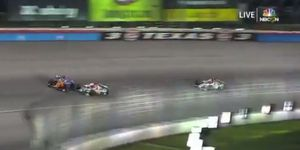 Scott Dixon and Colton Herta crashed while fighting for second inside 25 laps to go in the DXC 600.