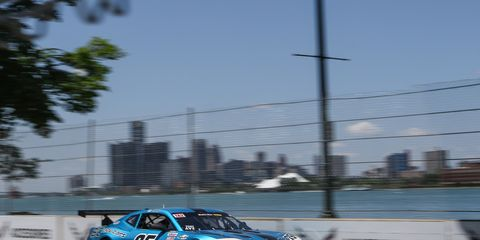 Celebrating his 100th career Trans Am start, Tony Ave (No. 25 BC Race Cars) took the lead in the final laps.