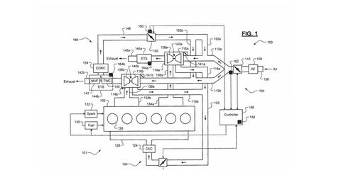 This patent drawing hints that Fiat-Chrysler is getting a straight-six engine ready for production.
