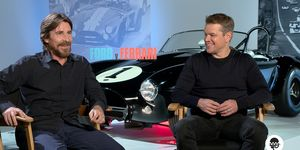 Christian Bale and Matt Damon talk to Autoweek's Mark Vaughn about the upcoming Ford v Ferrari movie.