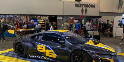 The Acura NSX GT3Evo is an updated version of the championship-winning GT3 car.