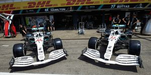 The No. 44 of Lewis Hamilton and No. 77 of Valtteri Bottas will have new looks for this weekend's race at Hockenheim.