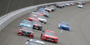 "<span id=""CT_Main_1_cache_lblCaption"">Austin Dillon leads a pack of cars during the Monster Energy NASCAR Cup Series FireKeepers Casino 400 at Michigan International Speedway.</span>"