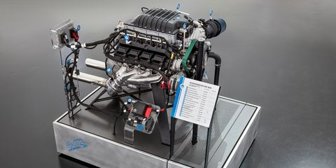 The Mopar Hellephant crate engine was introduced at SEMA in 2018.
