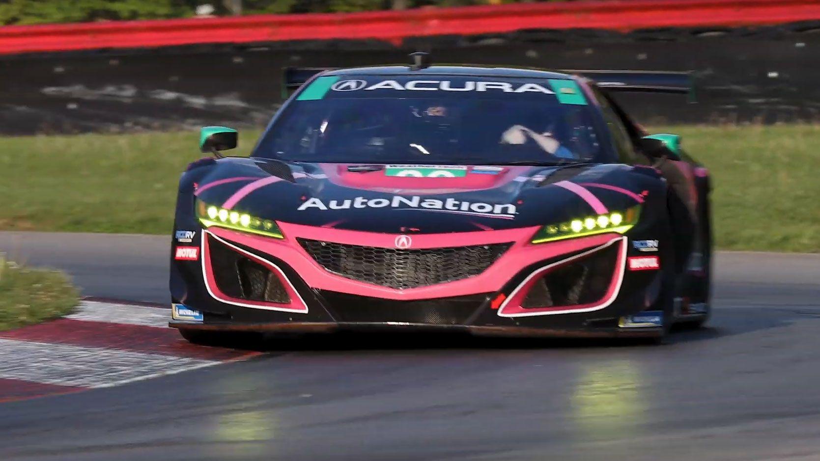 Nsx Versus Nsx Gt3 Evo Watch Acura Stage A Road Car Race Car Throwdown