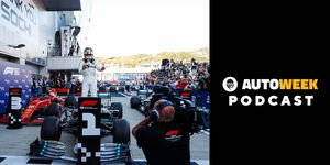 Lewis Hamilton jumps back to the top of the podium in Russia.