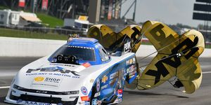 John Force won his 151st career race -- and it was a big one -- at the Chevrolet U.S. Nationals on Monday.