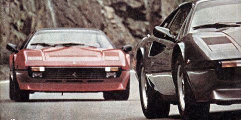 Land vehicle, Vehicle, Car, Sports car, Supercar, Coupé, Classic car, Automotive design, Ferrari 328, Ferrari 308 gtb/gts,