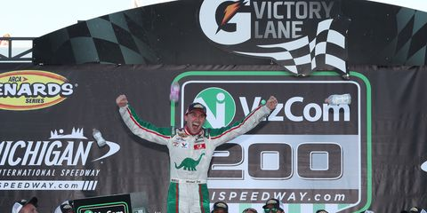 Self credited his third win of the season to a call on pit road by crew chief Shannon Rursch.