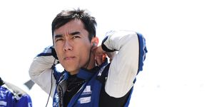 Takuma Sato's team says the veteran driver is not at fault for Sunday's first lap IndyCar crash at Pocono.