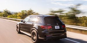 The2020 Mercedes-Benz AMG GLC63lays down 469 hp along with 479 lb-ft of torque.