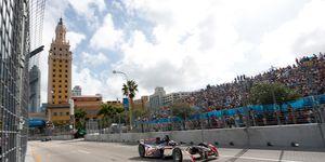 Miami hosted the FIA Formula E series in 2015.