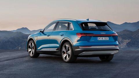 Audi e-tron EV rear 3-4 parked