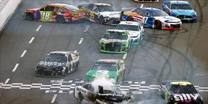 Aric Almirola vowed revenge against Kyle Busch for a crash in the second half of the First Data 500.