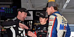 Kyle Busch briefly detailed his debrief with Todd Gilliland following their victory at Martinsville Speedway.