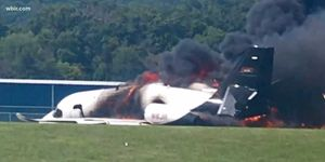 The pilots of the JR Motorsports Cessna Citation attempted a go-around before its crash landing.