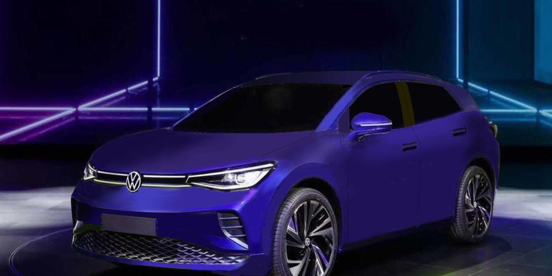 2021 Volkswagen ID.4 crossover revealed in teaser image ...