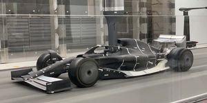 A 60 percent scale model of the baseline 2021 Formula 1 car hit the wind tunnel this week.