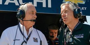 Roger Penske, left,and Penske Corp.president Bud Denkertook on a larger role at the Indianapolis Motor Speedway following the announcement of the IMS sale on Nov.4.