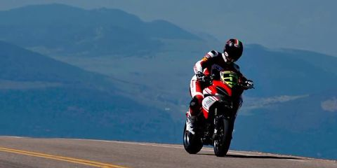 Carlin Dunne died on Pikes Peak following a crash near the finish line of this year's climb.