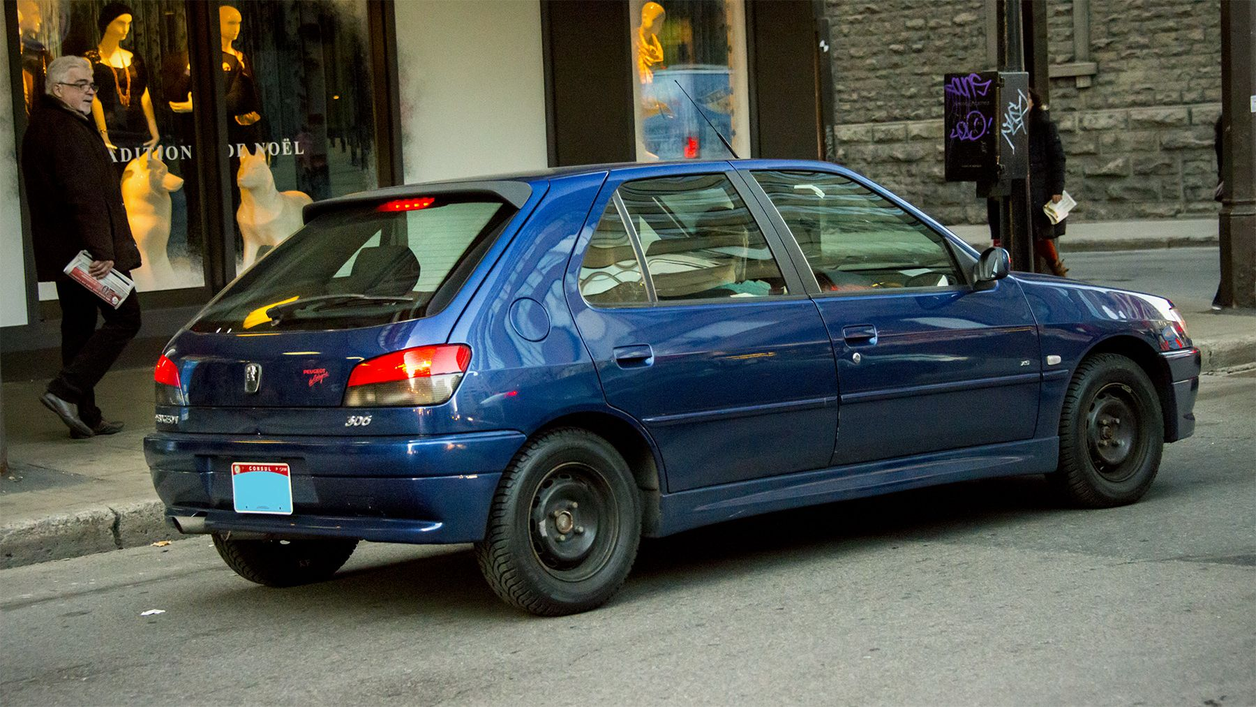 Foreign Hatchback Spotted On The Street Of Montreal Canada Diplomatic Peugeot 306