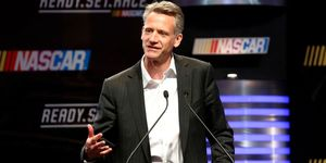 Steve Phelps conducted the annual state of NASCAR media press conference on Sunday at Homestead-Miami Speedway.