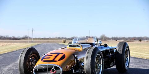 """This 1957 Kurtis Kraft 500G was the late """"Smokey"""" Yunick's first Indy car. It's heading to the Worldwide Auctioneers sale in Scottsdale, Arizona, where it will be lot 30."""