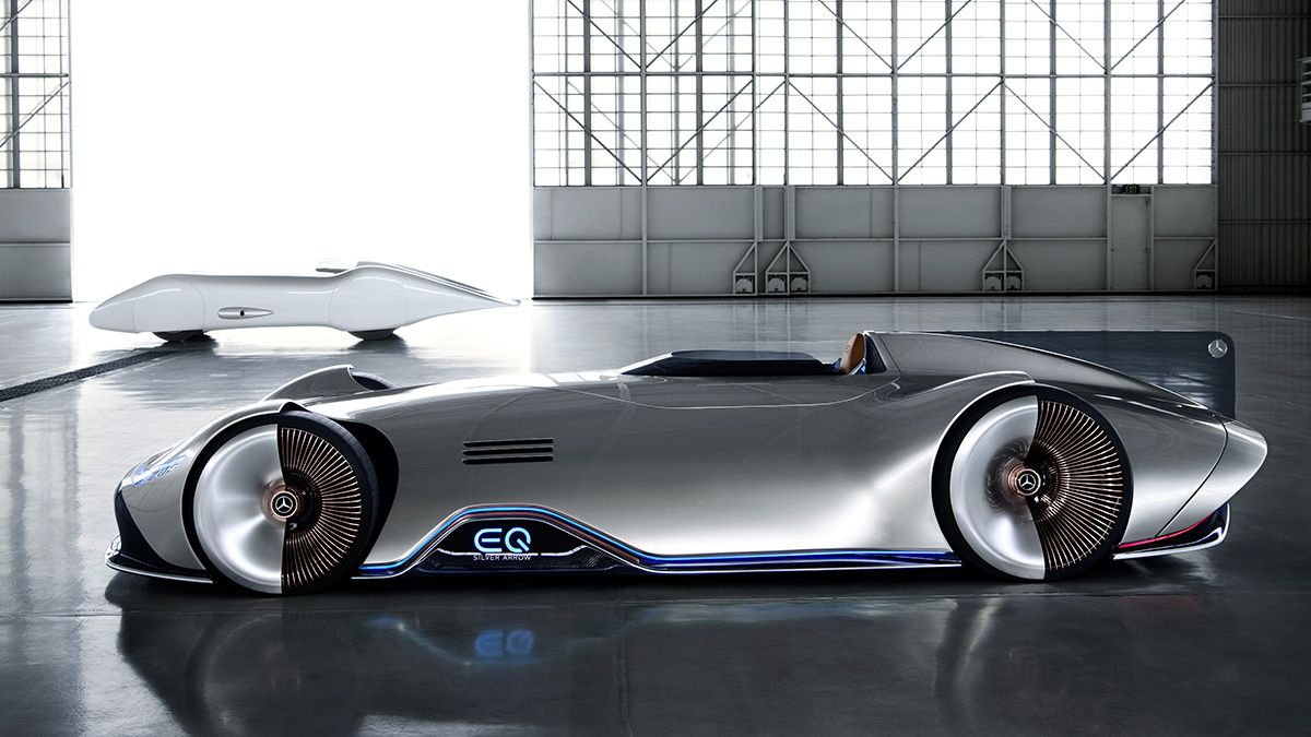 Mercedes Eq Silver Arrow Concept Pays Homage To 268 Mph Car From 1937